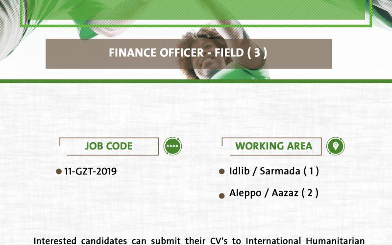 Finance Officer (Job Opportunity)