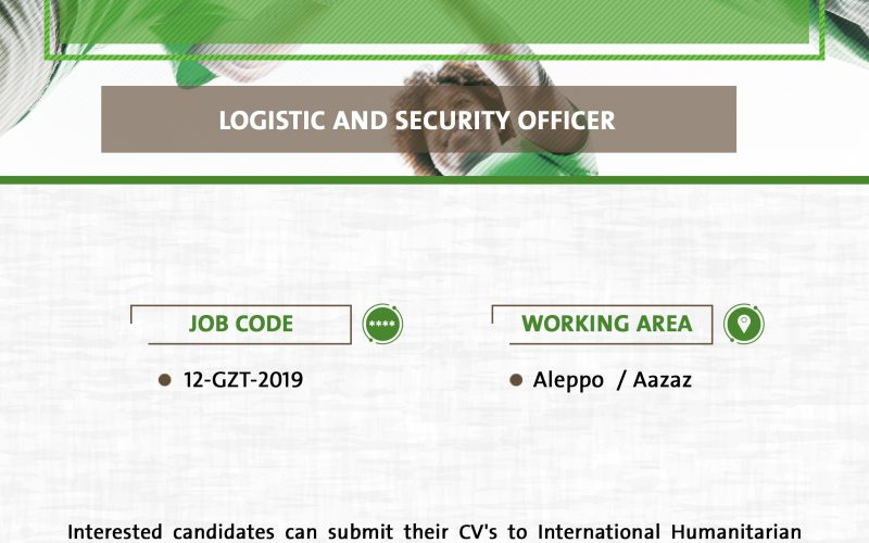 Logistic and Security Officer (Job Opportunity)